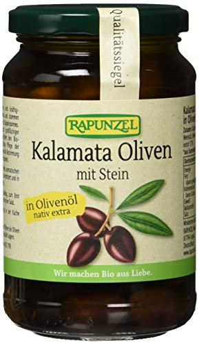Rapunzel Oliven Kalamata violett, mit Stein in Olivenöl, 1er Pack (1 x 335 g) - Bio