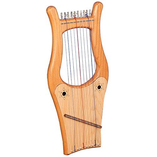 Muzikkon Mini Kinnor Harfe, 10 Streich Mini Kinnor Harfe, Kind David Harp