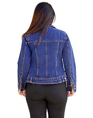 Aarti Collections Light Blue Zipper Women's Denim JACKET