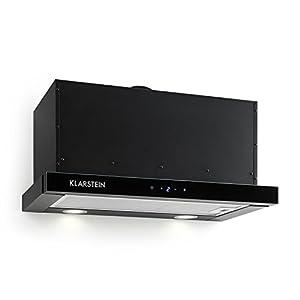 Klarstein Vinea – Campana extractora de bajo mueble, Vidrio de seguridad, Extraíble, 610 m³/h máx. extracción humo…