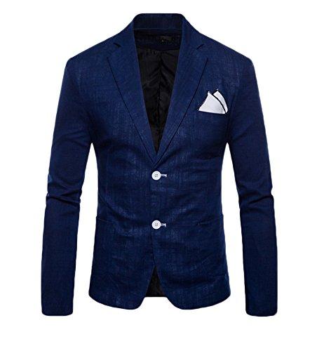 Giacca blazer da uomo casual elegante slim fit tops blazers solido cappotto outwear marina militare s
