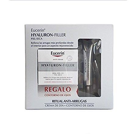 Eucerin Hyaluron-filler Dia Pieles Secas 50 Ml + Contorno de Ojos Fps15 15 Ml GRATIS
