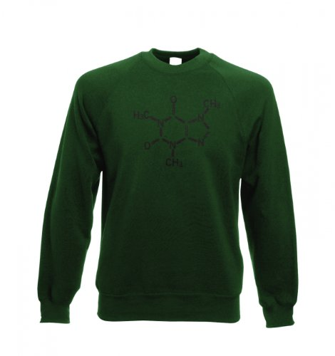 Koffeinmolekül T-Shirt Tragetasche Bottle Green