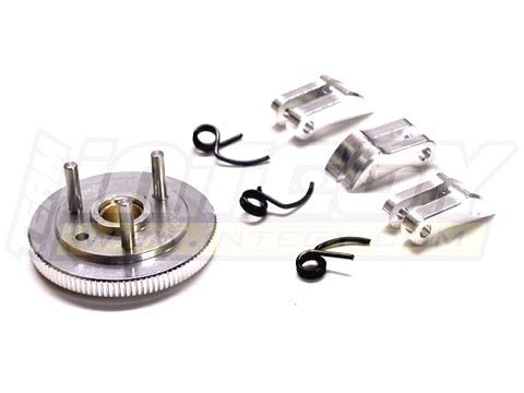 Integy Hobby RC Model T7041SILVER 7075 Type 3-Piece Clutch+Flywheel for HPI Savage-X, 21 & 25