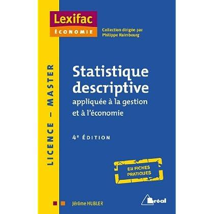 Statistique descriptive appliquée à la gestion et à l'économie