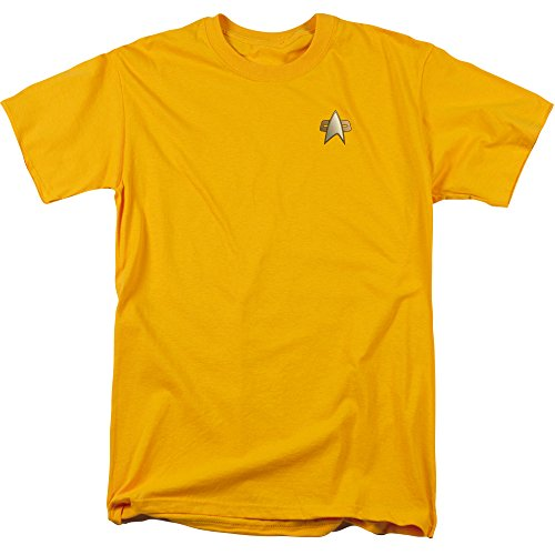 WickedTees Ds9 engineering einheitliches kostüm T-shirthirt für Herren XX-Groß Gold