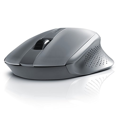 CSL - Wireless Bluetooth Mouse Optical / kabellose optische Notebook Maus | High Precision | reaktionsschnell | Advanced Power Management System | ergonomisches Design | grau