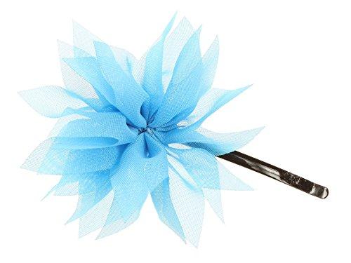 Bleu ciel Organza Fleur Barrette A Cheveux