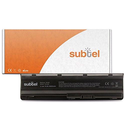 subtel Qualitäts Akku (6600mAh) für HP Pavilion dm4*/dv3*/dv5*/dv6*/dv7*/G4/G6/G7/G42/G62/G72/Envy 17 MU06 Notebookakku Laptopakku Ersatzakku Batterie