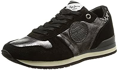 Pepe Jeans London Gable Urban, Baskets mode femme - Noir (999Black), 36 EU
