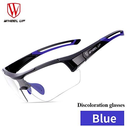 Sisit Fahrrad Rad Selbsttönend Brille Outdoor Sports von Air Radsport Unisex Brille UV MTB Winddicht (Blau)