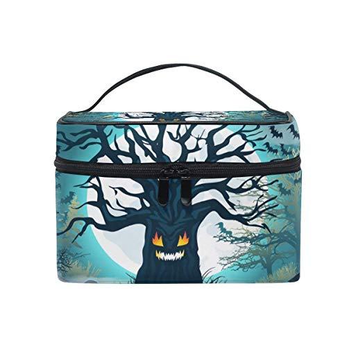 Tragbare hängende Make-up Kosmetiktasche Tasche,Travel Cosmetic Bag Halloween Tree Toiletry Makeup Bag Pouch Tote Case Organizer Storage for Women Girls