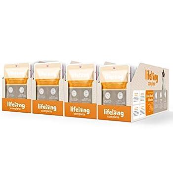 Marque Amazon- Lifelong Aliment complet pour chats adultes- Sélection mixte en sauce, 9,6 kg (96 sachets x 100g)
