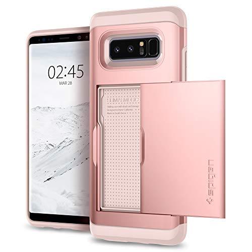 Spigen Samsung Galaxy Note 8 Hülle, Slim Armor CS Kartenfach Handyhülle Card Holder Schutzhülle für Samsung Note8 Case Rose Gold (587CS22074)