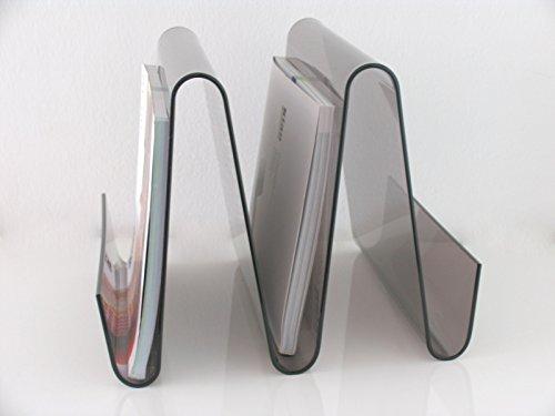 Portariviste libreria design in plexiglass ufficio negozio 0921 fume 39 - Accessori bagno plexiglass amazon ...