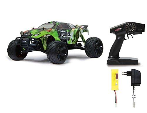 Veloce Monstertruck 1:10 4WD NiMh 2,4G LED - Allrad, Elektroantrieb, Akku, 35Kmh, Aluchassis, spritzwasserfest, Öldruckstoßdämpfer, Kugellager, Fahrwerk einstellbar, fahrfertig
