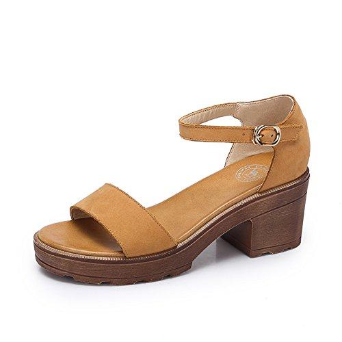 Studente estivo scarpe romane/Spessa con sandali con tacco alto A