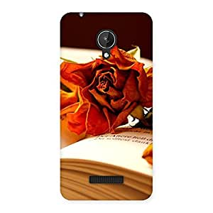Stylish Rose Book Back Case Cover for Micromax Canvas Spark Q380