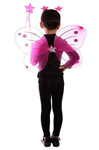 (Ja03 98-104 Flügel Kostüm Kind Kinder Kostüme für Karneval Fasching)