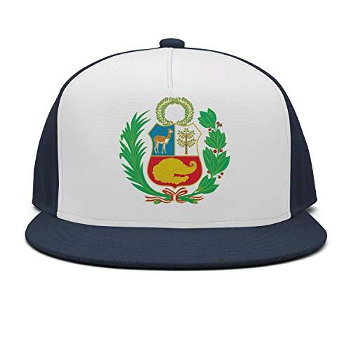 lijied Unisex Adult Peru Flag Plain Adjustable Snapback Hip Hop Baseball Cap Black (Günstige Echte Waffen)