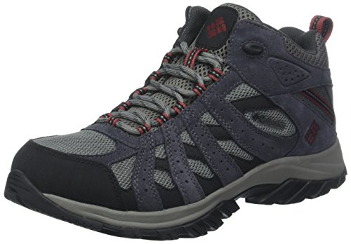 Columbia Herren Wanderschuhe Wasserdicht Canyon Point Mid Waterproof, Größe 41, grau (charcoal garnet red)