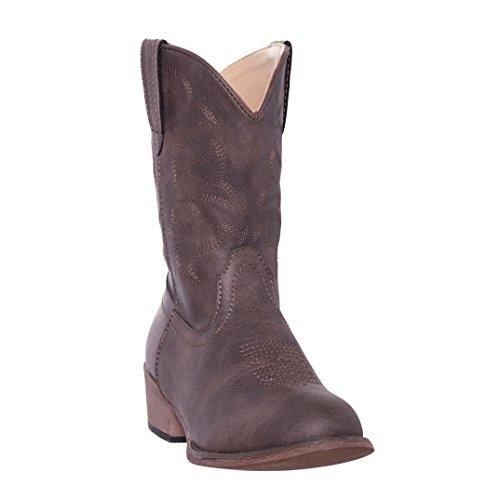 Silver Canyon Boot and Clothing Company Kinder Monterey Kinder West Brown-Cowboystiefel für Junge 9 M US kleine Kinder Distressed Brown -