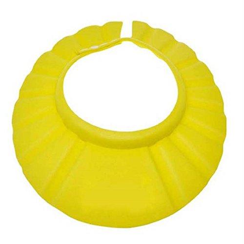 Chianrliu Einstellbar Shampoo Bade Bad SchüTzen Weiche Kappe Hut für Baby (Gelb)