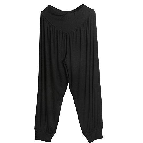 """Sidiou Group Nuovi Pantaloni di Harem per donne, pantacollant per Danza, Yoga, passeggiando - molto morbido """" (M, Nero)"""