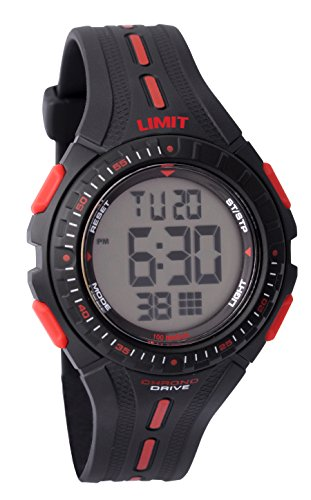 limit-boys-round-black-plastic-digital-watch-539156-with-black-bezel-and-red-white-markers