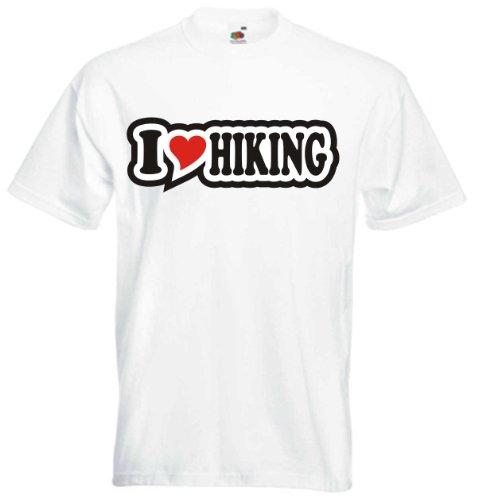 T-Shirt Herren - I Love Heart - I LOVE HIKING Weiß