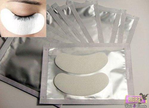 Kiara H & B Collagène patchs en gel pour extensions de cils, non pelucheux, 50 paires