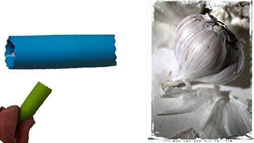 Knoblauchschäler blau Knoblauchschäler Knoblauch Schäler Reibe Presse Silikon