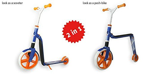 Scoot and Ride Scooter Laufrad Highwaygangster, weiß/blau/orange, One Size, 96152