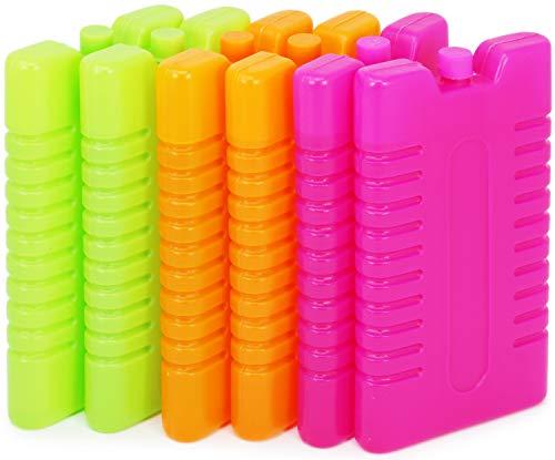 com-four® 6 Kühlakkus in verschiedenen Farben (Farbe variiert!) (06 Stück - 220ml bunt)