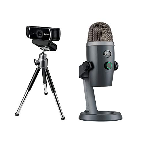 Logitech Streaming-Grundausrüstung - Blue Yeti Nano USB-Mikrofon + C922 Pro Stream Webcam (Streaming in Full HD mit 1080p und Stativ) schwarz - Logitech Mikrofon