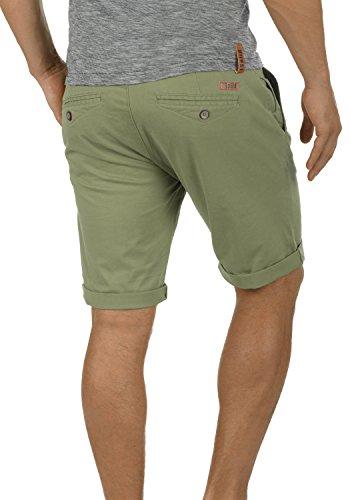 SOLID Montijo Herren Chino-Shorts kurze Hose Business-Shorts mit Gürtel aus hochwertiger Baumwollmischung Dusty Oliv (3784)