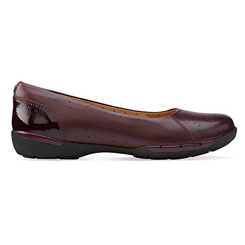 Clarks Un Hearth piatto Burgundy
