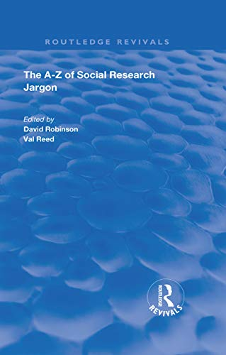 The A–Z of Social Research Jargon (Routledge Revivals) (English Edition)