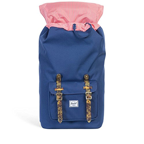 Little America Backpack twilight blue-tortoise shell rubber
