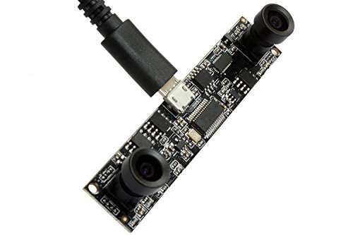ELP 720P HD Webcam MJPEG & YUY2 Dual Lens Industrie USB-Kamera Videoüberwachung CMOS OV9712 Kamera Modul Personenzählung Doppelobjektiv-Kamera USB für Android, Linux, Windows
