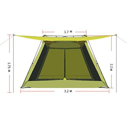 Anti-UV-Party-Zelt Outdoor-Blumen-Rack Camping 4-8 Grill Zelt Portable faltbar Strand Zelt Regen Zelt große Fläche 220 cm hohen Raum verschiedene atmungsaktive Design große Größe 320cm * 320cm * 220cm (Pavillon Portable)