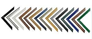Easy Kunststoff-Bilderrahmen 50x70 cm 70x50 cm Farbwahl: hier Gold Antik mit Acrylglas
