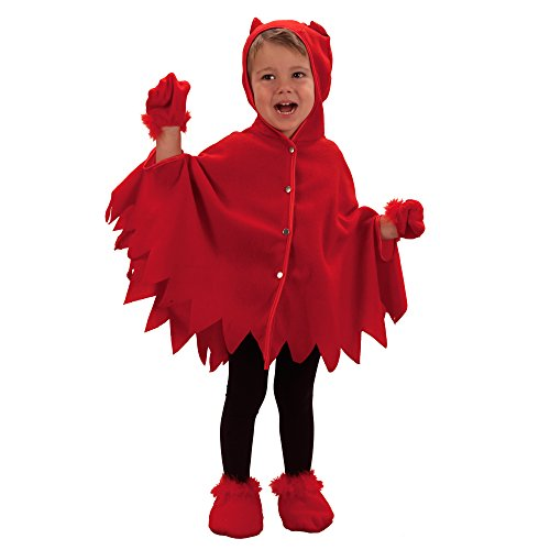 Brauns Heitmann 6856 Kinderkostüm Teufelchen, Umhang plus Handschuhe, Größe: 92 - 104, rot, (Kostüme Halloween Plus)