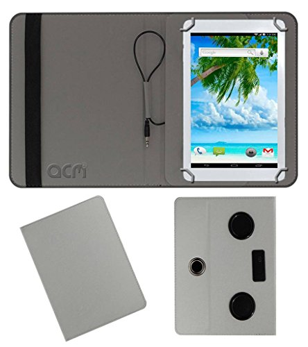 Acm Portable Rotating Music Speaker & Cover for Ambrane Aq11 Tablet Case Stand White  available at amazon for Rs.539