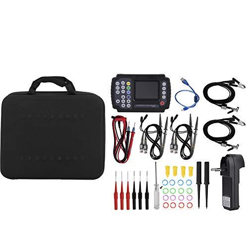 Osciloscopio digital USB, Akozon Osciloscopio automotriz Portátil Multímetro de almacenamiento digital AC100-240V 4 canales 10MHz, 100MSa / s (ADO104)