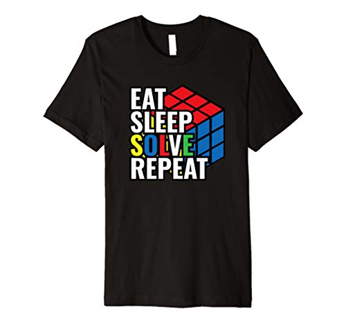 Eat Sleep Solve Repeat Rubik's Cube T shirt