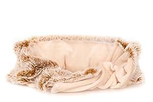 Bouillotte Ceinture naturelle pour le bas du dos, lombaires, micro-ondes, housse lavable - beige