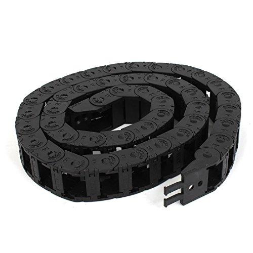 Longueur 1m 15mm x 20mm en plastique noir corde câble chaîne Drag