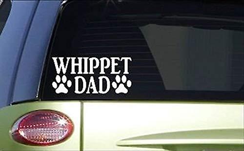 CELYCASY Whippet DadH894 20,3 cm Aufkleber Greyhound Rescue Dog Racing Maulkorb -
