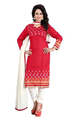 Rangrasiya Women's Poly Cotton Printed Designer Dress Materials/Salwar Suits  available at amazon for Rs.199